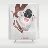 koala Shower Curtains featuring Koala by Alice Maclean Smith