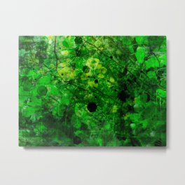 The adventure of green - 2 - psychedelic tropic Metal Print