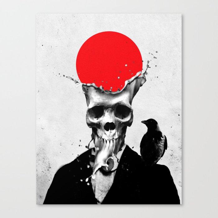 SPLASH SKULL Canvas Print