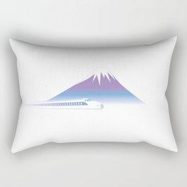 Mt.Fuji and Bullet train in Japan Rectangular Pillow