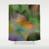 flight Shower Curtains featuring Flight by Deborah Janke