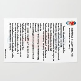 ONCE SPRINKLED BY A SAINTLY TEAR (a poem honoring The Mother Teresa) Rug