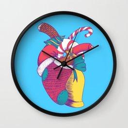 Christmas Heart Wall Clock