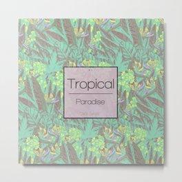 Tropical Paradise: Jade Jungle Metal Print
