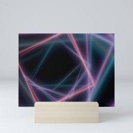 Flying colorful squares. Mini Art Print