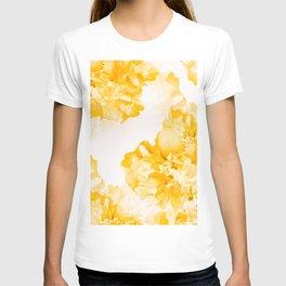 Beautiful Peony Flowers White Background #decor #society6 #buyart T-shirt