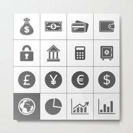 Money an icon2 Metal Print