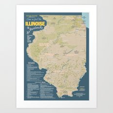 The Geography of Illinoise Art Print