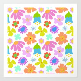 Mod Scandinavian Floral Art Print