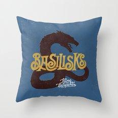 Basilisks Throw Pillow