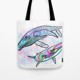 Humpback and Minke Whale Tote Bag