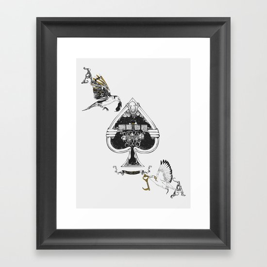 The ace of spades Framed Art Print