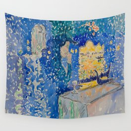Venice Night of the Festival of the Redeemer Henri-Edmond Cross Neo-Impressionism Pointillism Wall Tapestry