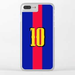 football team 1 number ten Clear iPhone Case