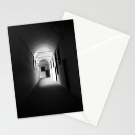 Black and white silence Stationery Cards