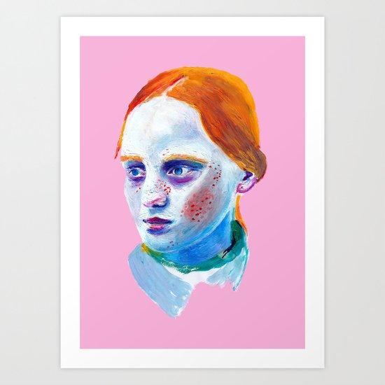 Redhead Painting Art Print