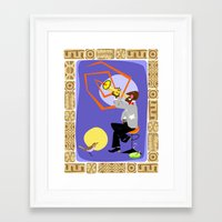 louis armstrong Framed Art Prints featuring Louis Armstrong - Sachmo! by Moirarae