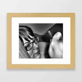 lazy monday Framed Art Print
