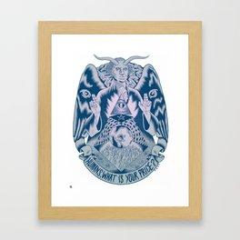 Man vs Money Framed Art Print