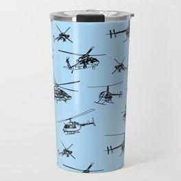 Helicopters on Sky Blue Travel Mug