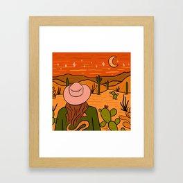 Desert Girl Framed Art Print
