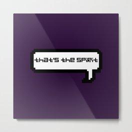 That's The Spirit - Purple Metal Print