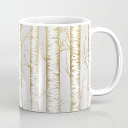 Metallic Birch Trees Coffee Mug