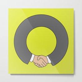 Agreement Metal Print