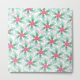 Doodly Flowers Metal Print