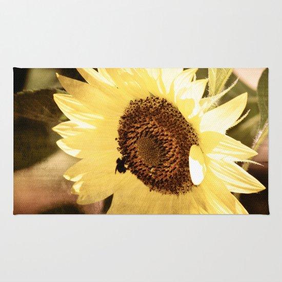 Simple Sunflower Rug