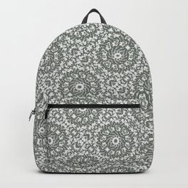 Grey Ornate Decorative Pattern Backpack