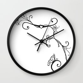 Butterfly Vines Wall Clock