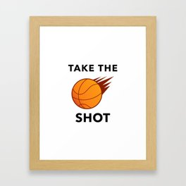 Take The Ball Shot Framed Art Print
