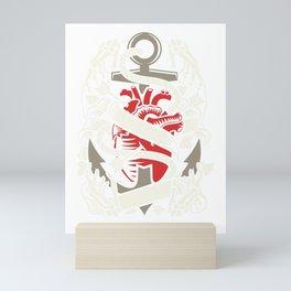 Heart Anchor Captain Sailing Love Heart Gift Mini Art Print