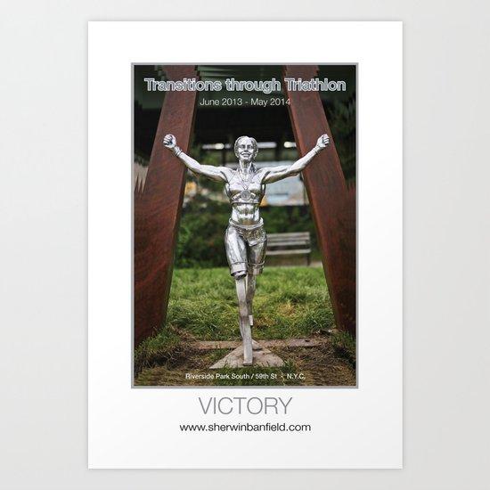 VICTORY of Transitions through Triathlon Art Print