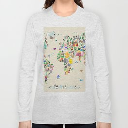Animal Map of the World Long Sleeve T-shirt