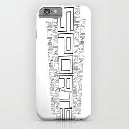 Run for relaxation, pleasure, health... white iPhone Case