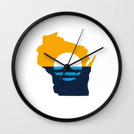 Wisconsin - People's Flag of Milwaukee Wall Clock