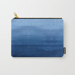Blue Watercolor Ombré Carry-All Pouch