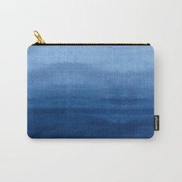 Blue Watercolor Ombré Carry-All Pouch