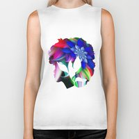 afro Biker Tanks featuring Afro by SmartyArt Chick
