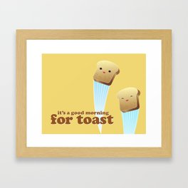 Happy Toast Framed Art Print