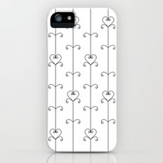 Black & White Hearts iPhone (5, 5s) Slim Case