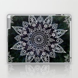 Rising Soul Mandala Design White Blue Green Laptop & iPad Skin
