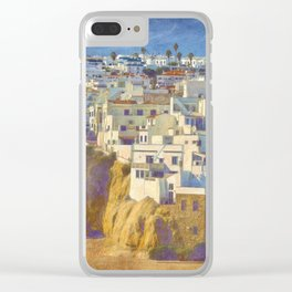 Albufeira citadel houses Clear iPhone Case
