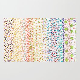 Striped Piled Dots Pattern Rug