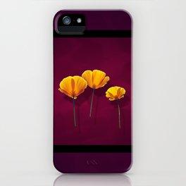 Three Poppies iPhone Case