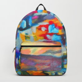 My Village   Colorful Small Mountainy Village Backpack