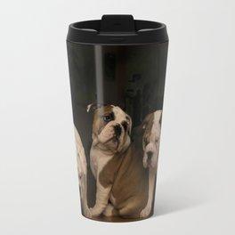 Four Bulldog Puppies Travel Mug