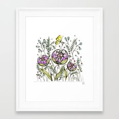 Flowers by Doodling - © Lucinda Wei Framed Art Print